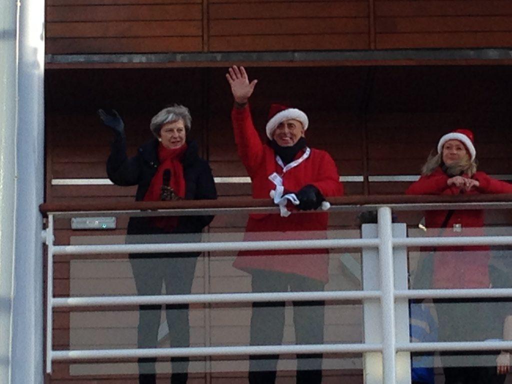 Theresa May Santa Run PA System