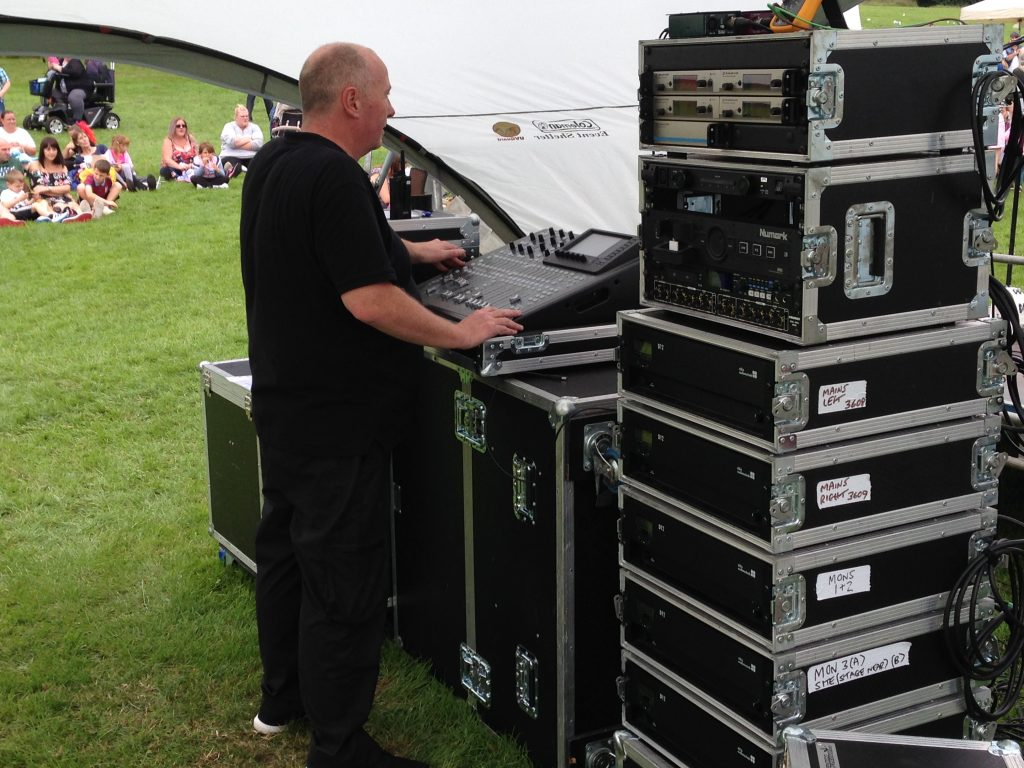 LIve Band PA System with technician