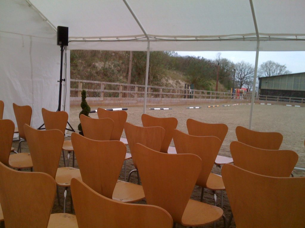 marquee equestrian PA system