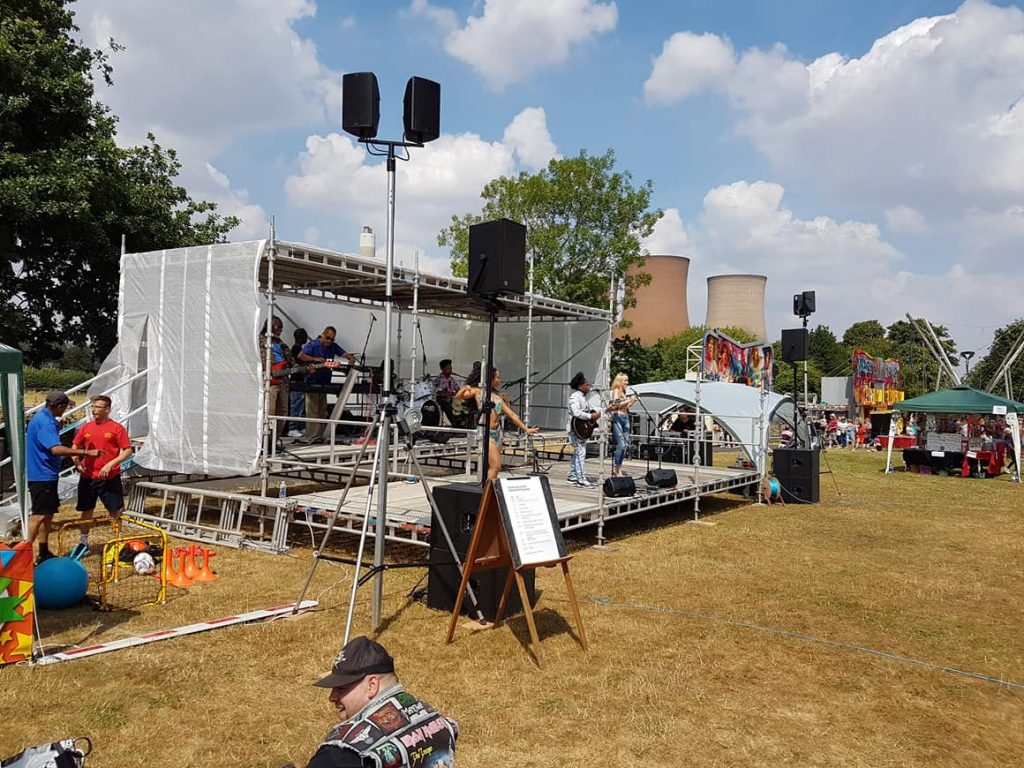 outdoor stage PA system