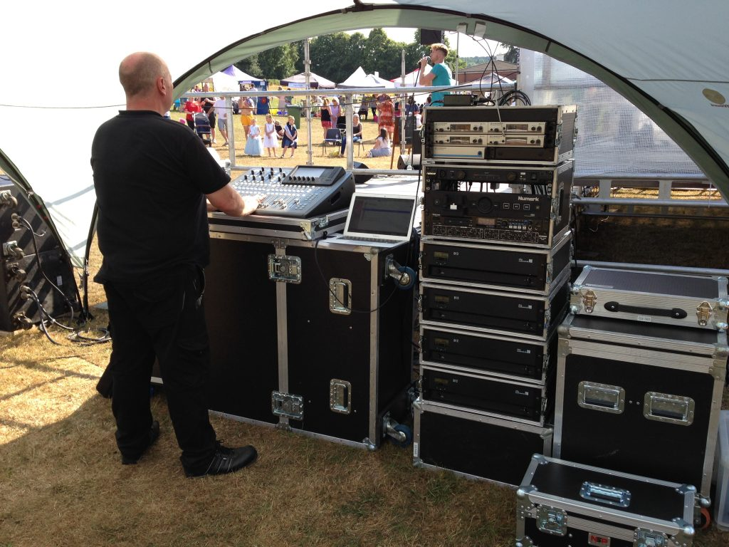 Live Band PA Sound System - FOH Tent