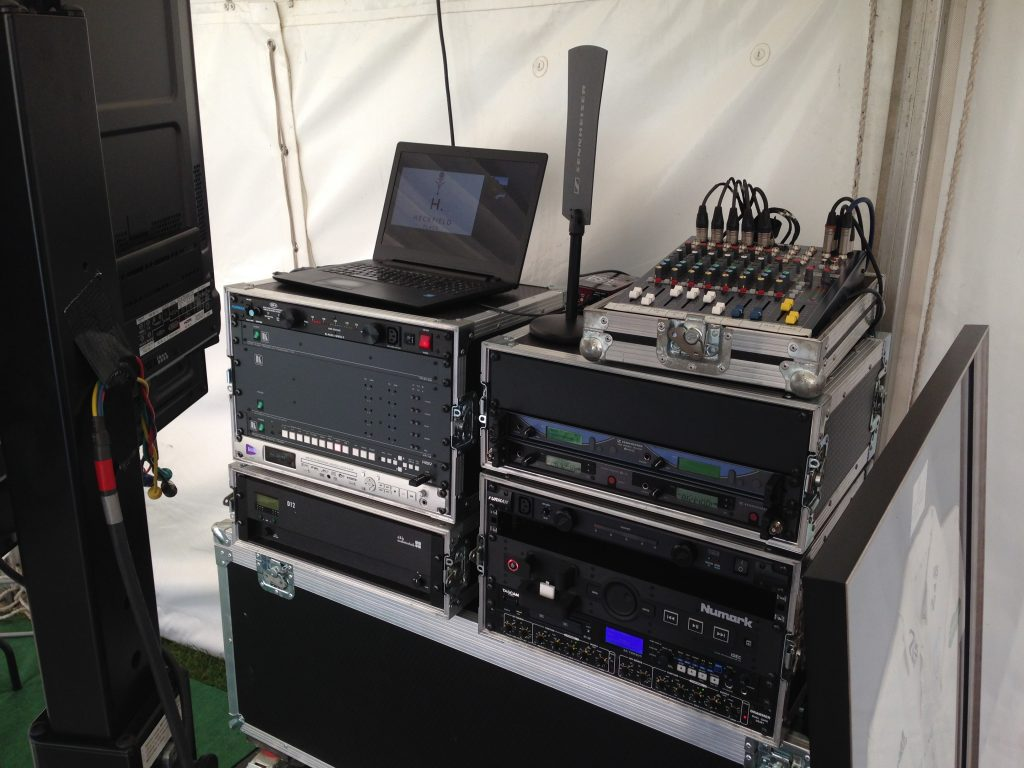 audio visual system for marquee event