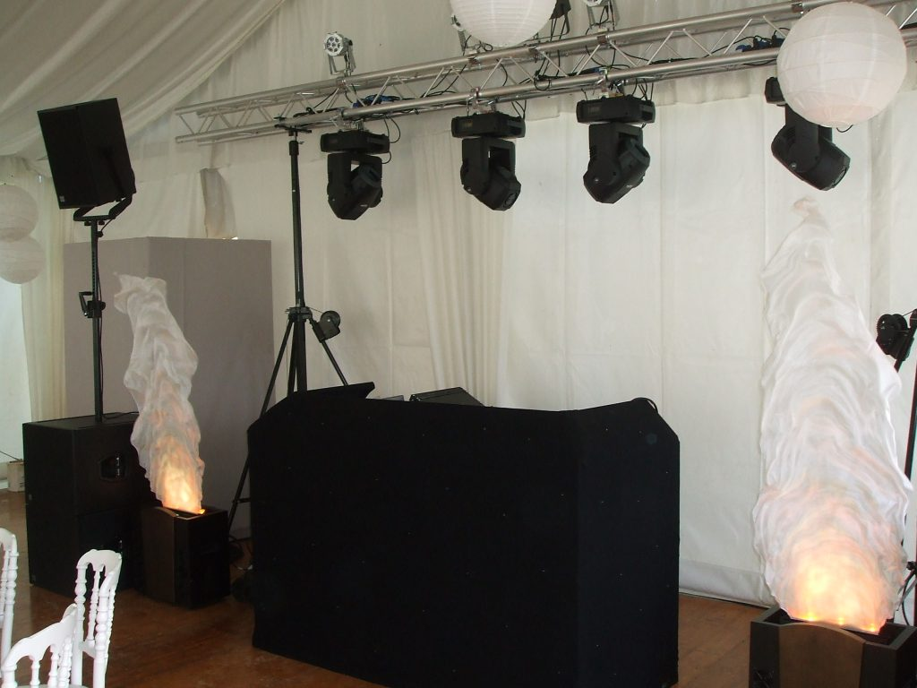 dj booth sound system hire